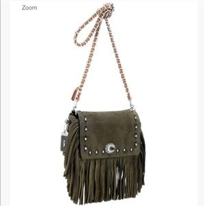 Coach Suede Fringe Shoulder Bag